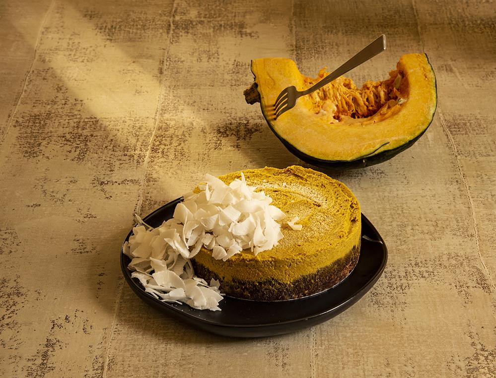 Tortinha de Abóbora com Coco e Nuts