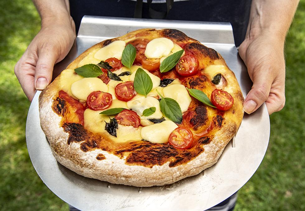 Massa de Pizza com Levain