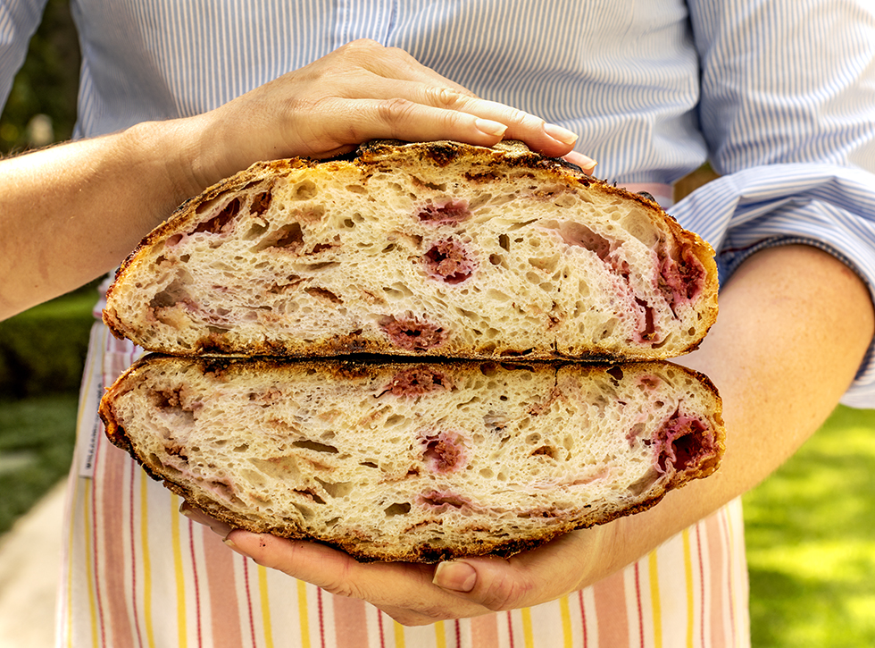 Pão de Framboesa