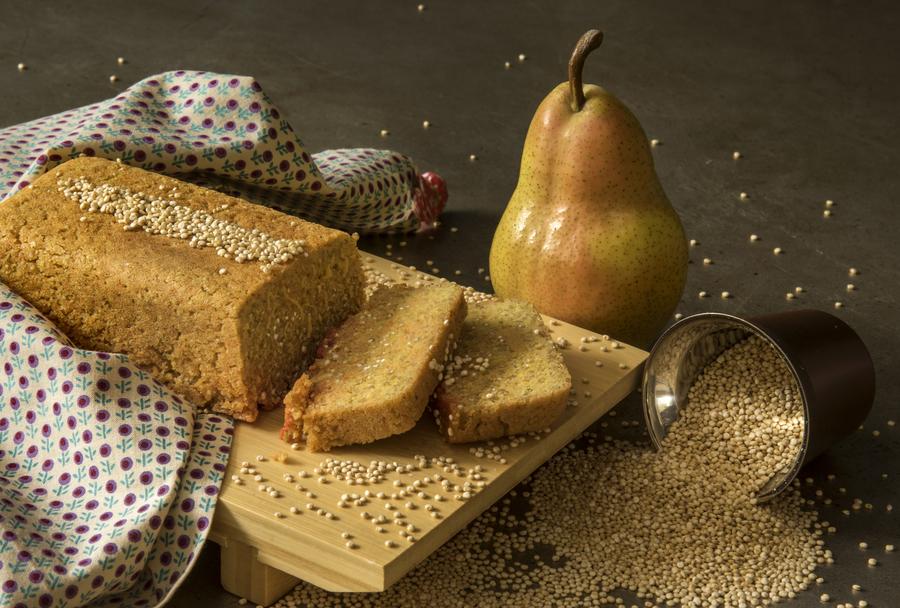 Pão de Quinua ao Açafrão-da-Terra