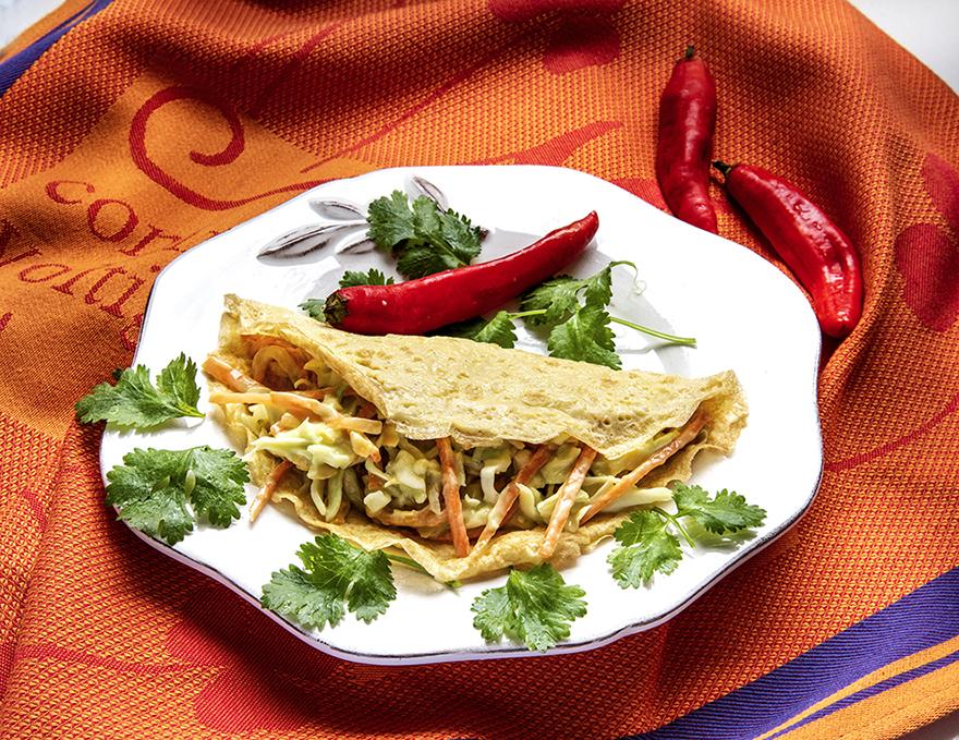 Omelete com Recheio Mexicano
