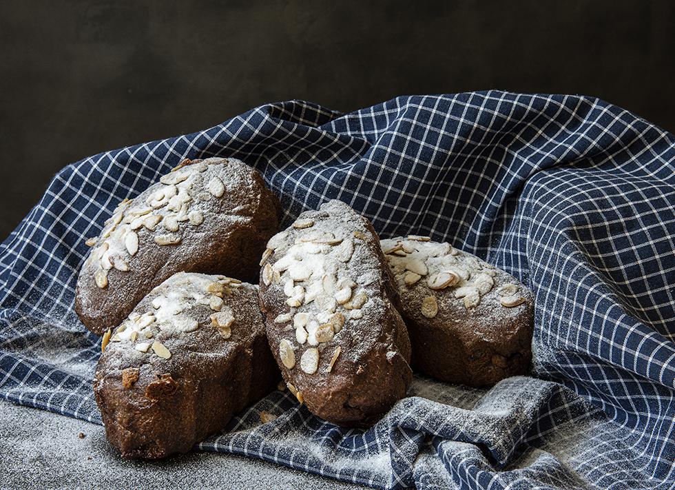 Pão de Uva e Chocolate Branco