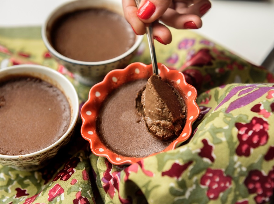 Taças de Chocolate com Avelã