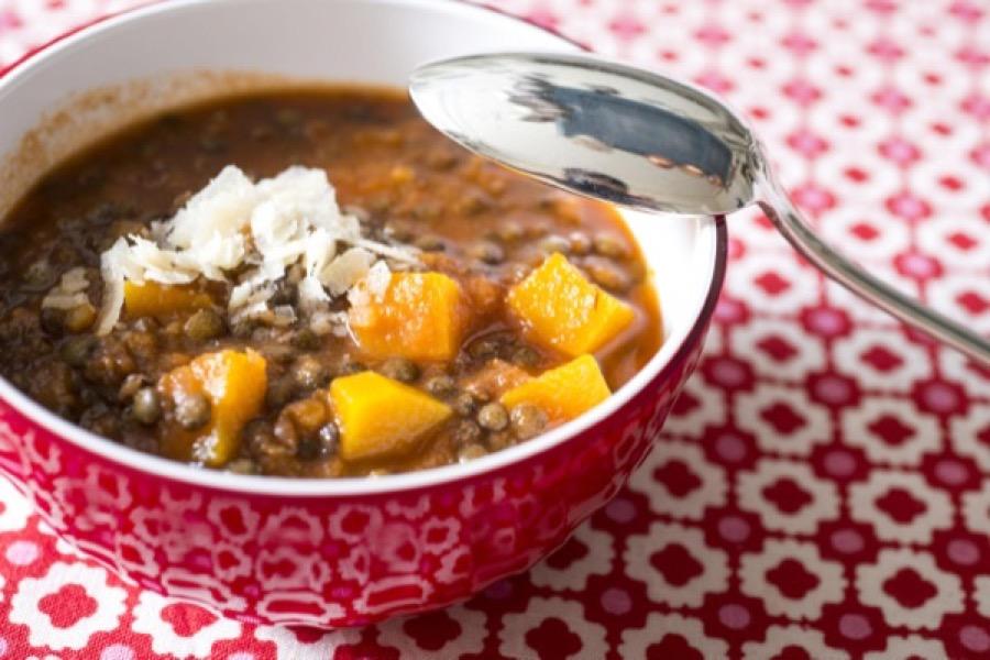 Sopa de Lentilha com Abóbora