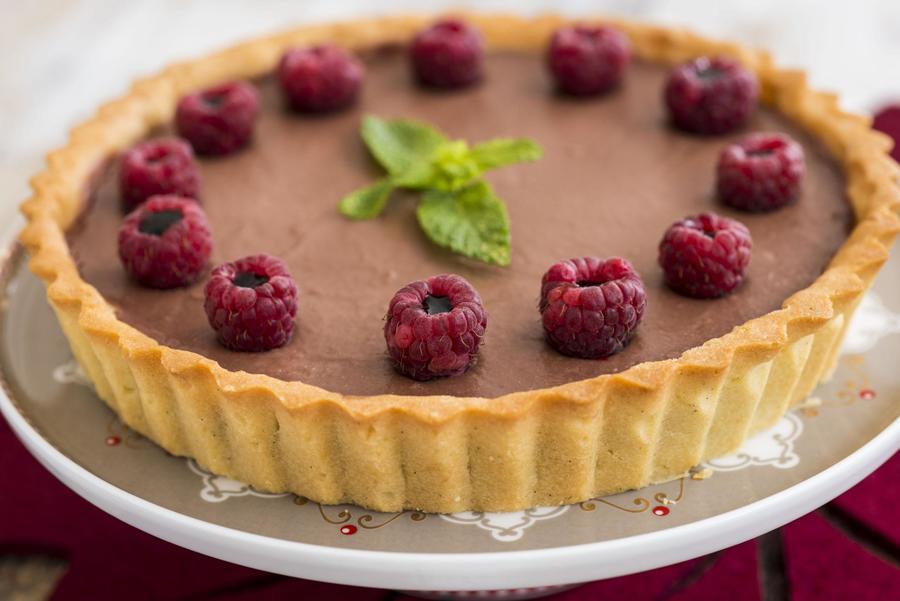 Torta de Framboesa e Vinagre Balsâmico