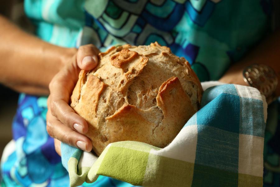 Pão Rústico com Girassol