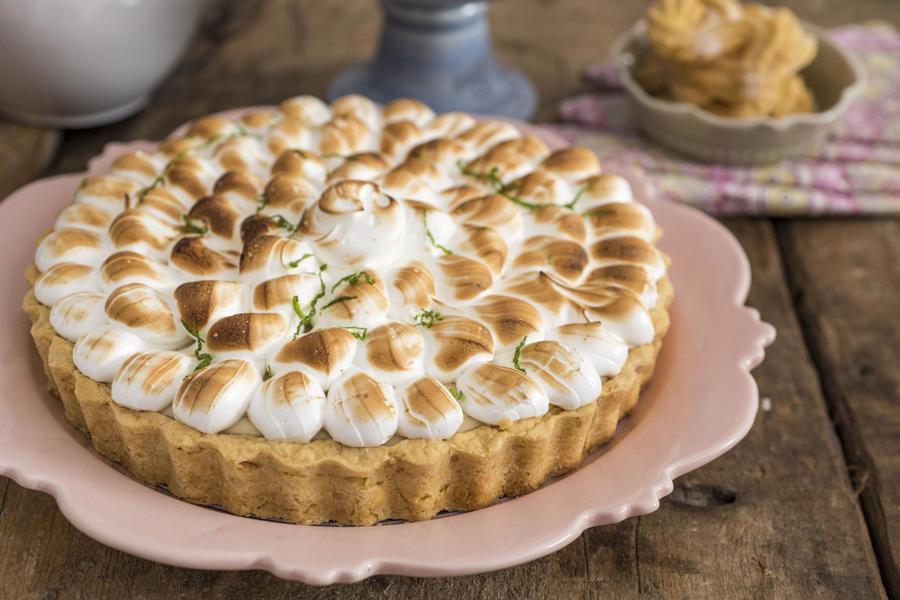 Torta de Limão-Siciliano com Sorbet de Limão e Azeite de Mandarino