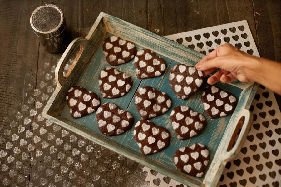 Biscoito de Chocolate de Coração