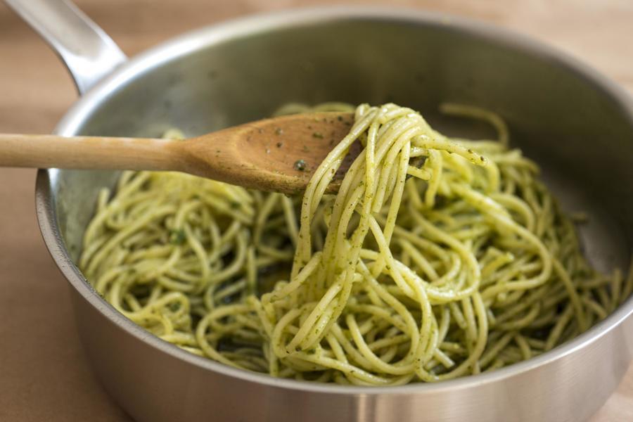 Espaguete com Pesto de Agrião