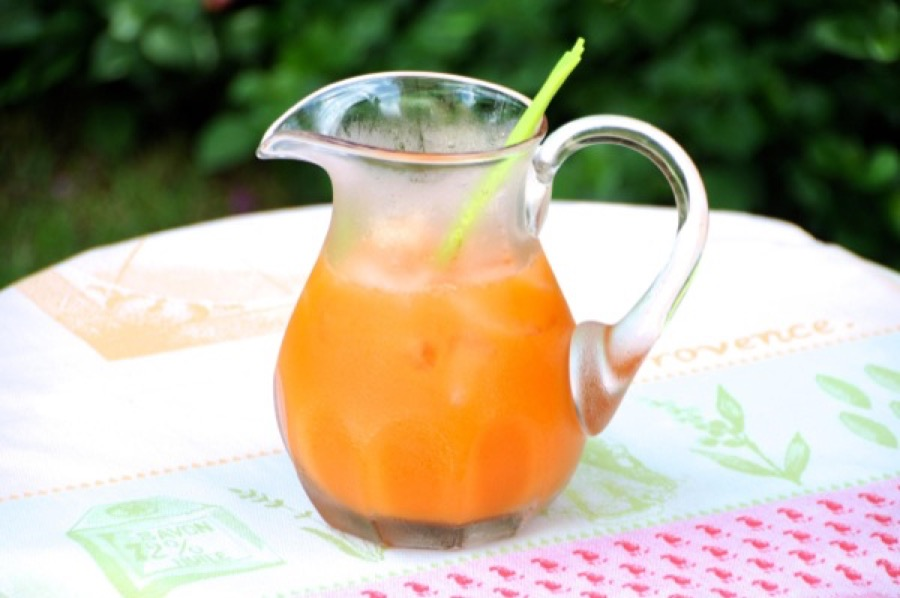 Suco de Laranja, Cenoura, Maçã e Gengibre