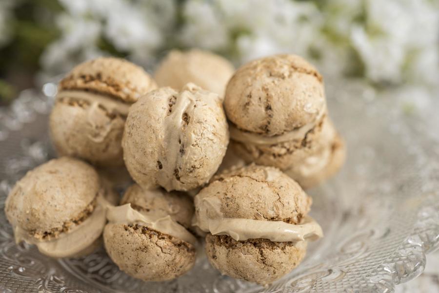 Macarons com Recheio de Café