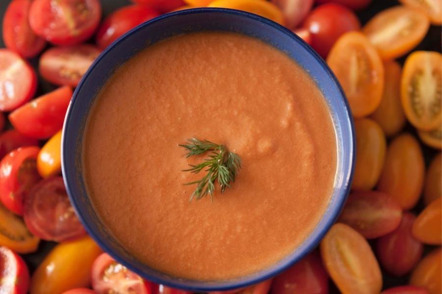 Gaspacho de Tomate e Melancia