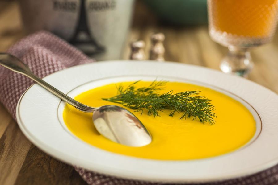 Sopa de Cenoura e Laranja