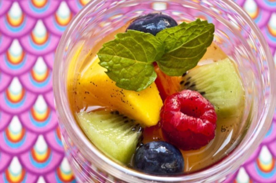 Salada de Frutas com Especiarias e Hortelã