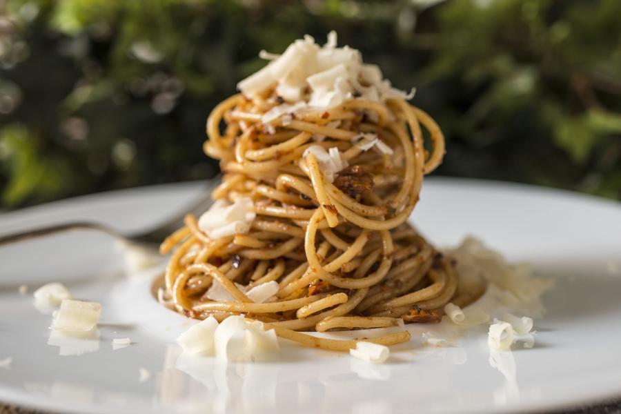 Espaguete com Pesto Vermelho