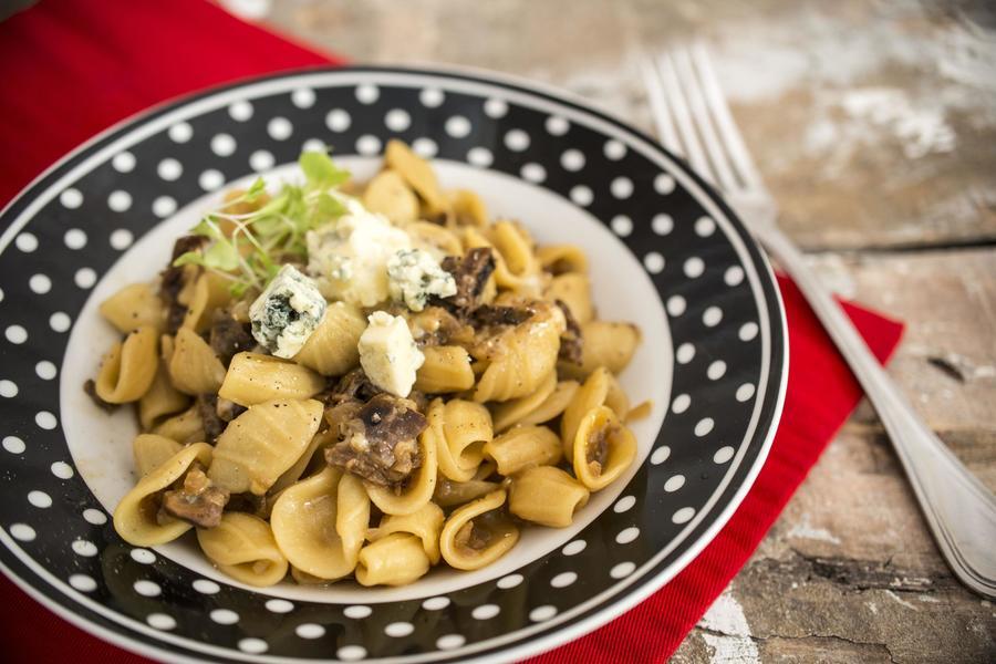 Orecchiette Gorgonzola e Funghi