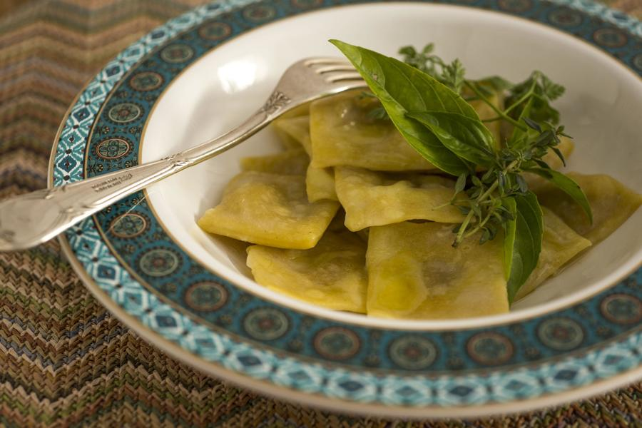 Ravioli de Foie Gras a l'Huile d'Olive
