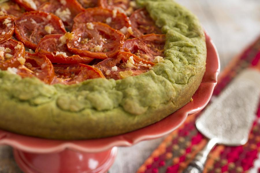 Torta Rústica de Tomate e Cebola