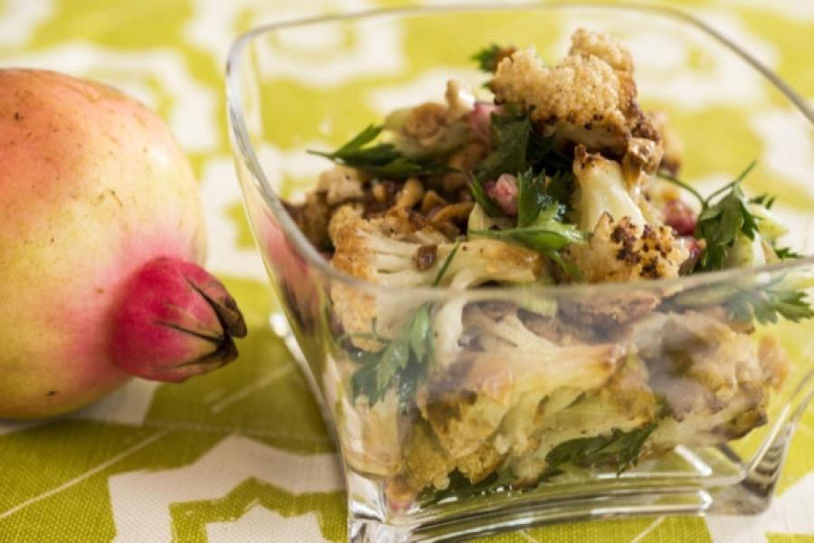 Salada de Couve-flor e Avelã Assadas