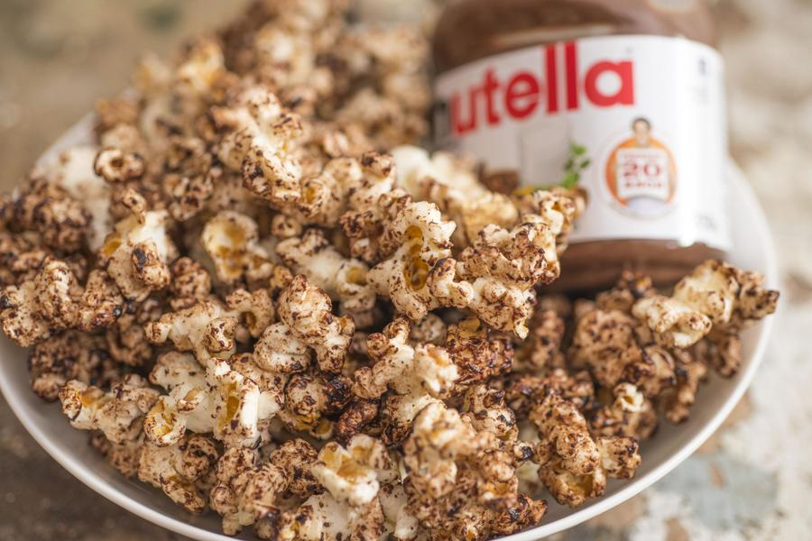 Pipoca com Nutella