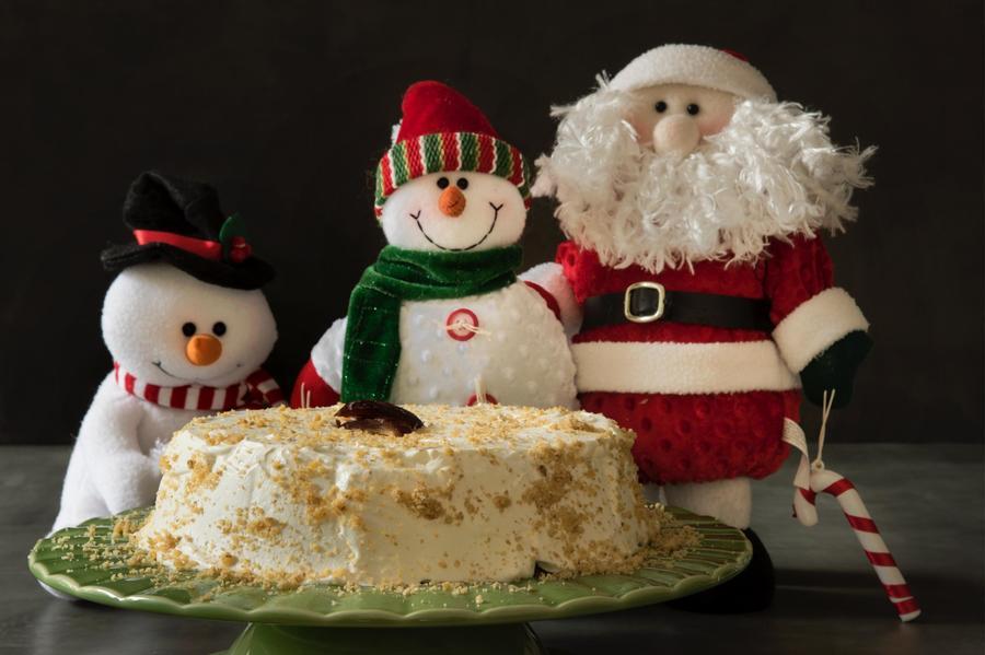 Torta de Natal de Tâmara e Nozes