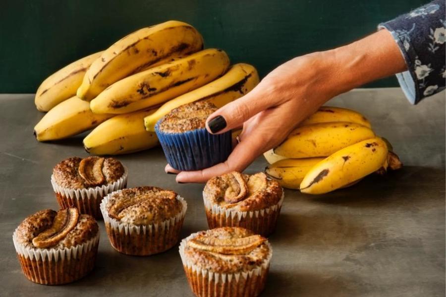 Muffin de Banana e Sementes de Chia