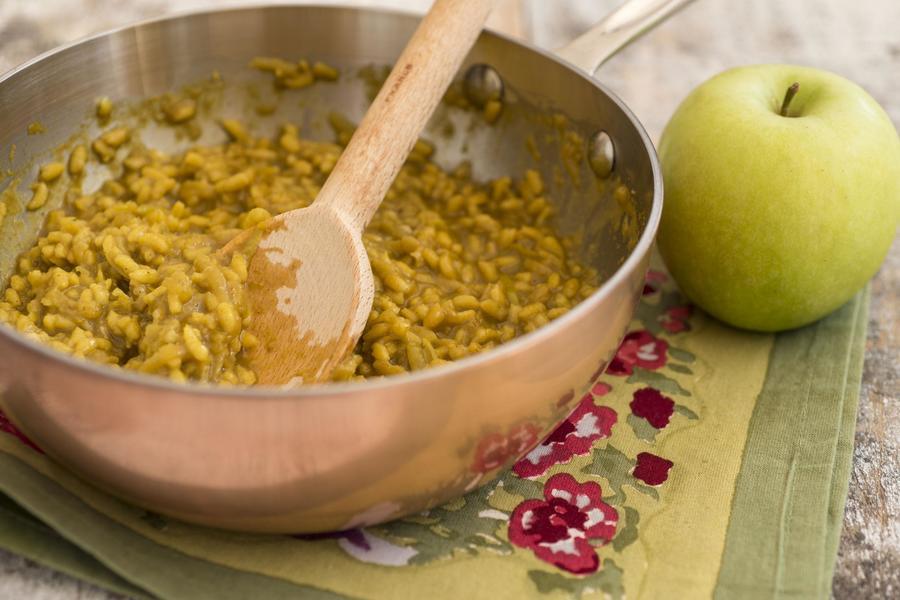 Risoto de Maçã, Curry e Açafrão