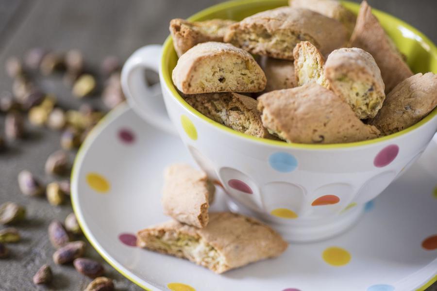 Biscotti de Limão e Pistache