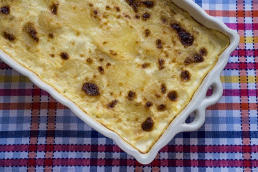 Gâteau de Batata e Alho-Poró