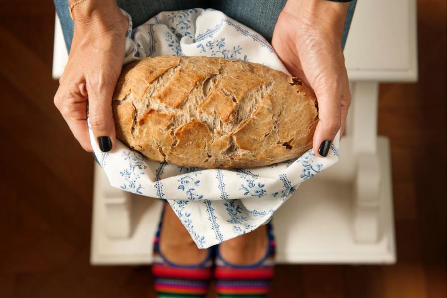 Pão de Canela, Uvas-Passas e Nozes