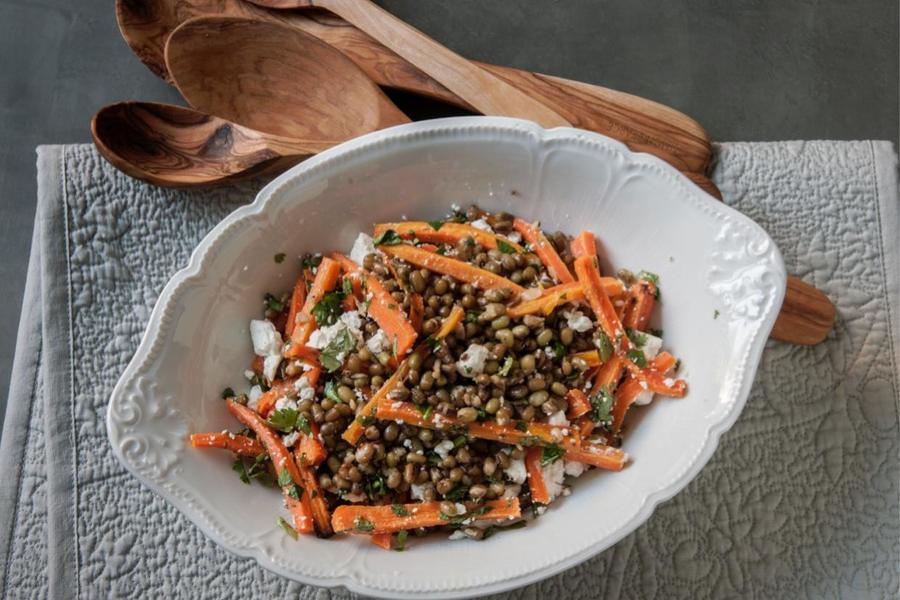 Salada de Cenoura e Feijão-Mungo