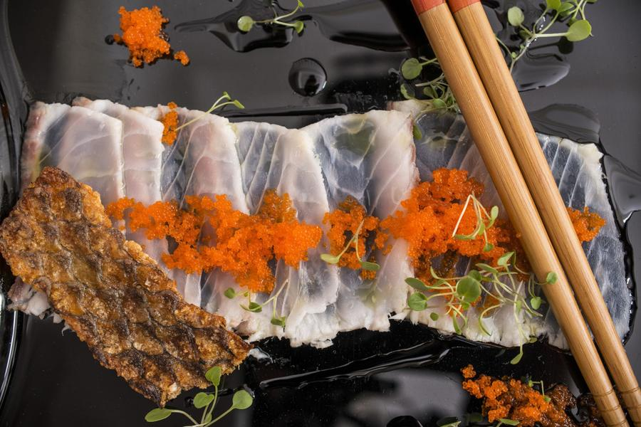 Carpaccio de Peixe Rústico ao Azeite Extravirgem