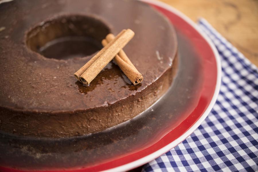 Pudim de Chocolate e Canela