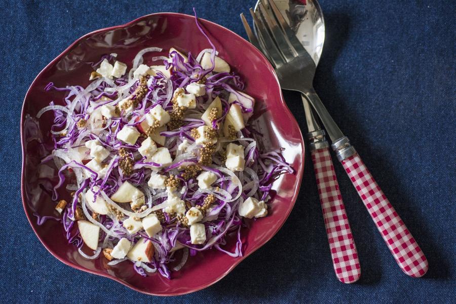 Salada de Repolho-Roxo e Maçã