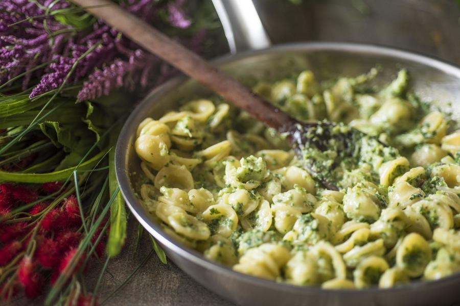 Orecchiette de Espinafre e Brócolis