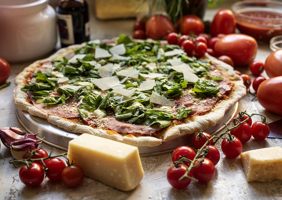 Pizza de Fermentação Lenta de Carpaccio