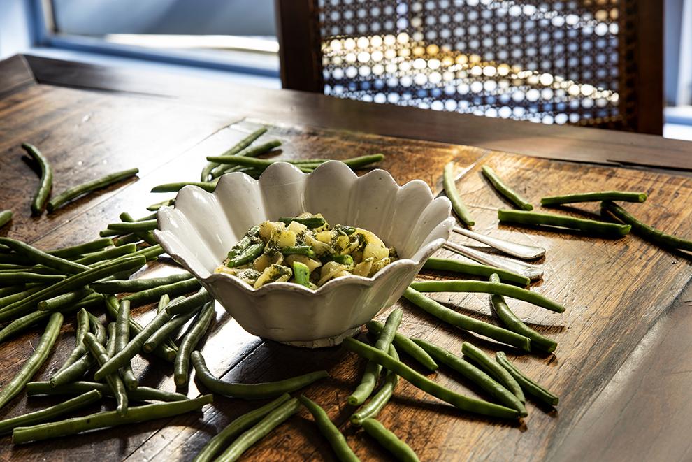 Orecchiette com Pesto, Vagem e Batata