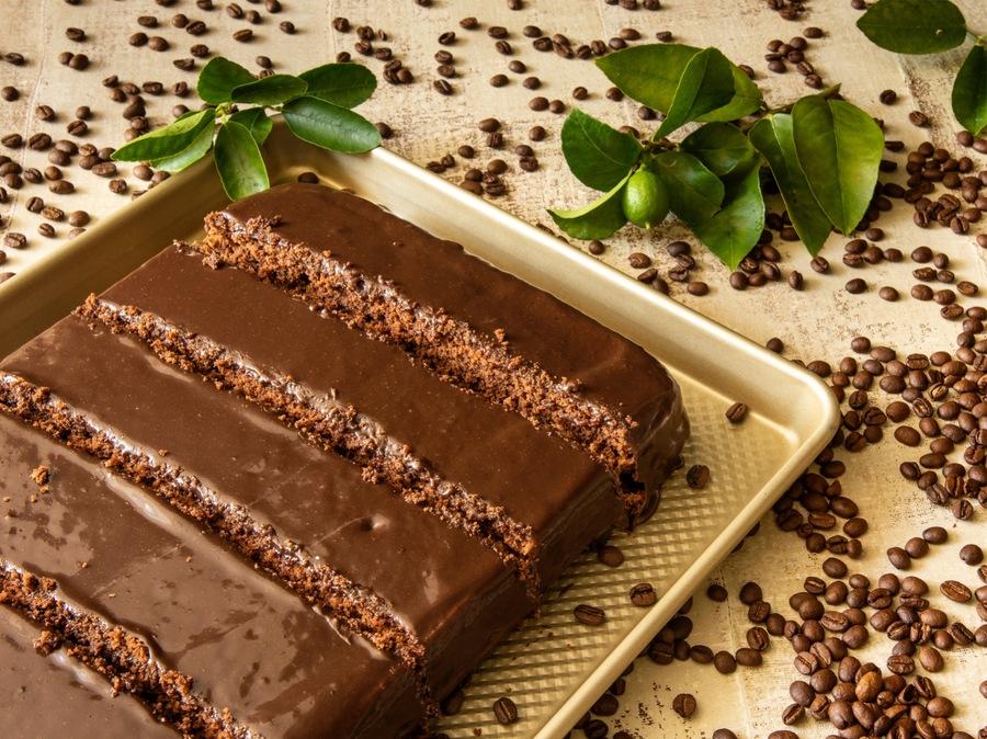 Bolo de Café com Chocolate