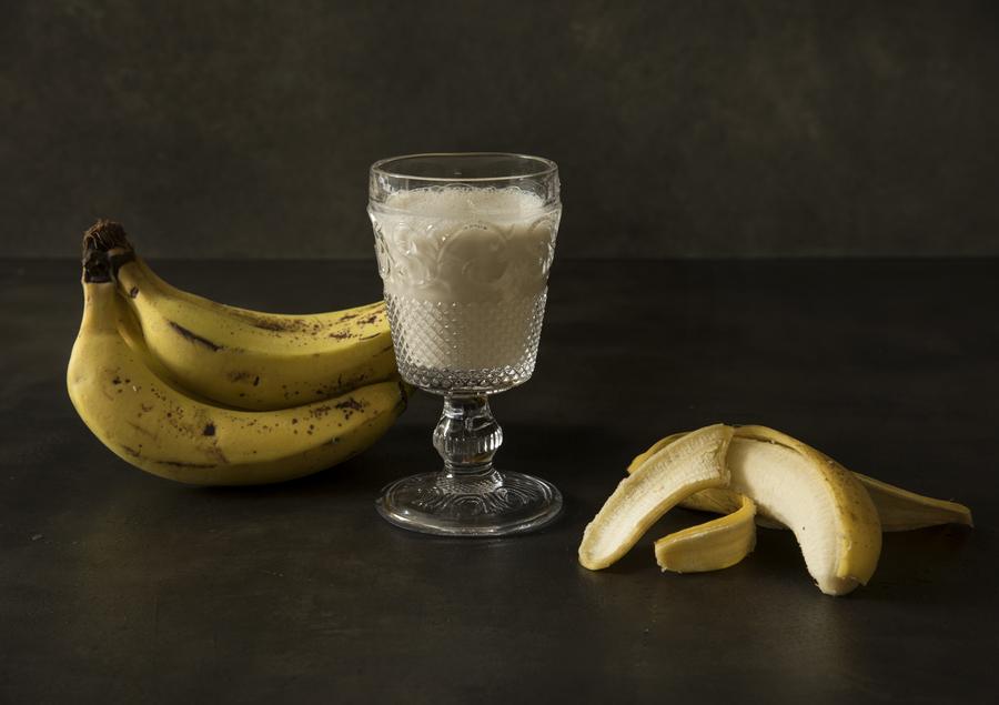 Vitamina de Iogurte com Maçã e Banana
