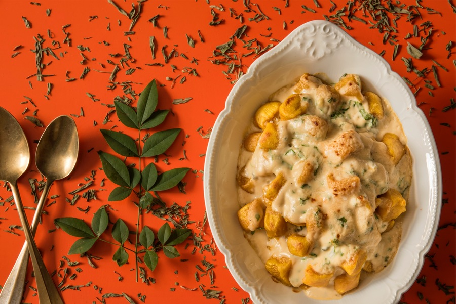 Gnocchi de Abóbora al Gorgonzola