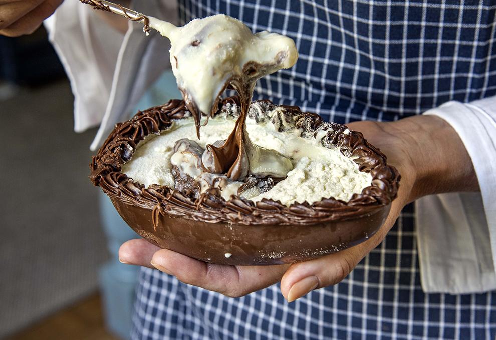 Ovo de Colher de Nutella e Leite Ninho