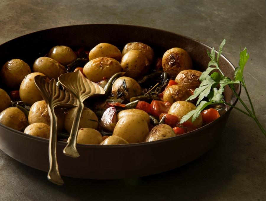Salada de Batata, Vagem, Tomatinho, Azeite e Ervas
