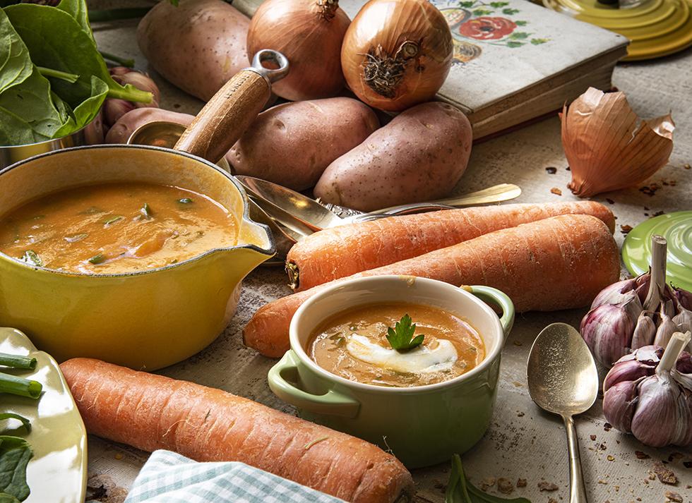 Sopa de Cenoura e Espinafre