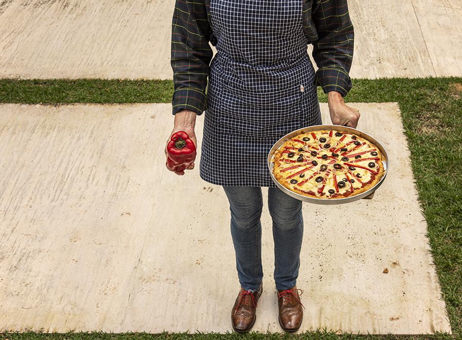Massa de Pizza de Couve-Flor