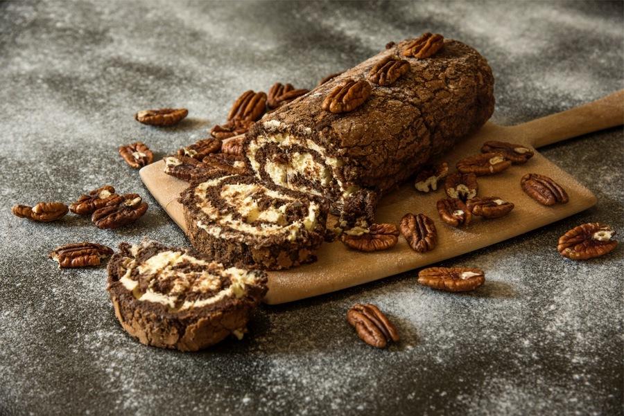 Rocambole de Chocolate, Passa e Noz-Pecã