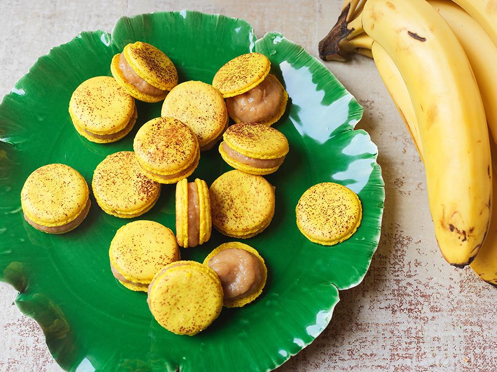 Macaron com Recheio Luís XIV (Doce de Leite e Banana)