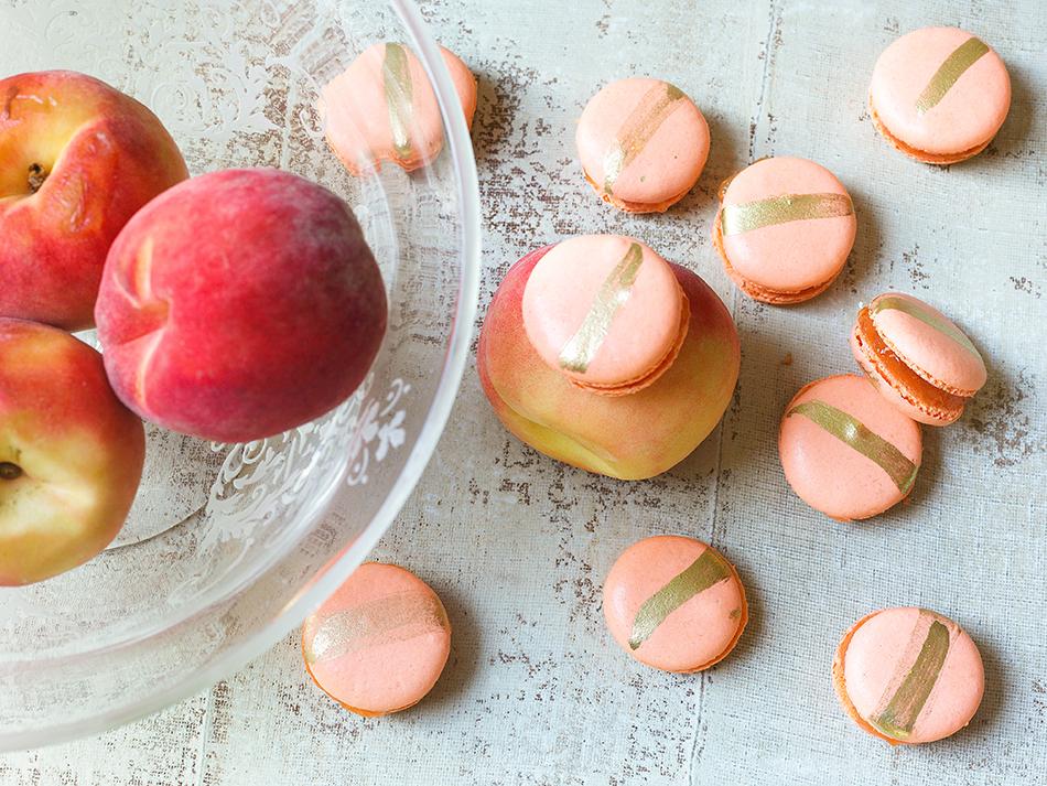 Macaron com Recheio de Geleia de Pêssego