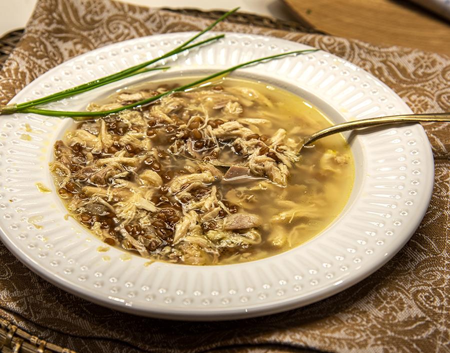Hrisseh (Sopa de Trigo Integral e Galinha Caipira)