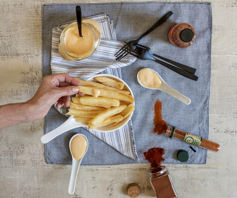 Batata Canoa com Maionese Picante