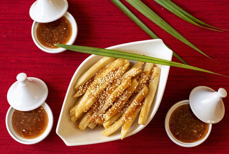 Batata Frita ao Estilo Asiático